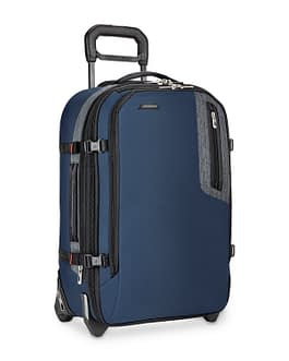 Briggs & Riley BRX-Explore Softside Expandable Carry-On Upright Luggage, Blue LIFETIME WARRANTY BU222X-44