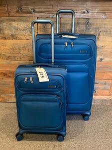 2pc Samsonite Double Wheeled Blue Spinner Luggage Set