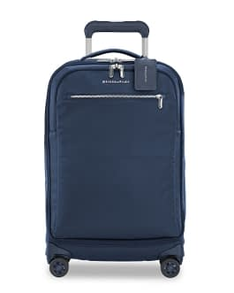 Briggs & Riley Rhapsody Tall Carry-On Spinner PU122SP-5 Navy Blue with LIFETIME WARRANTY