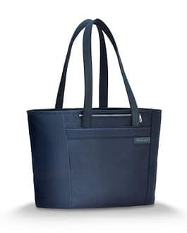 Briggs & Riley Baseline 255-4 LARGE NAVY BLUE SHOPPING TOTE BAG with LIFETIME WARRANTY