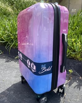 Pacific Coast Polycarbonate Pink Cloud 22″ Hardside Carry On Luggage