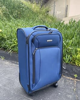 Samsonite Victory 2 Navy Blue Oversized Carry-On Luggage