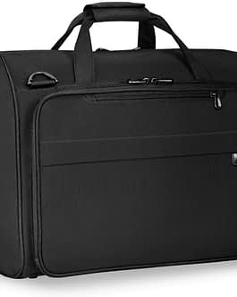 Briggs & Riley Baseline 260-7 BLACK FRAMED WEEKENDER with Lifetime Warranty