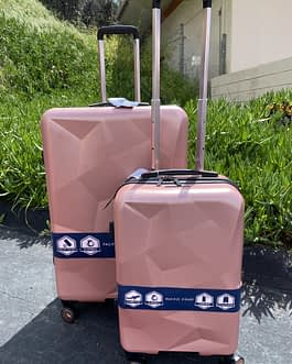 Pacific Coast 2-Piece Polycarbonate Rose Gold Hardside Large and Carry On Luggage Set