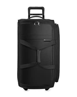 Briggs & Riley Baseline, UWD127-4 Medium Upright Two Wheel Duffle Bag Black LIFETIME WARRANTY