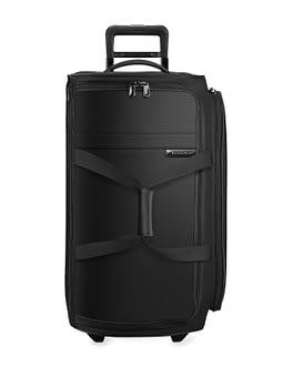 Briggs & Riley Baseline, UWD127-4 Medium Upright Two Wheel Duffle Bag Black LIFETIME WARRANTY