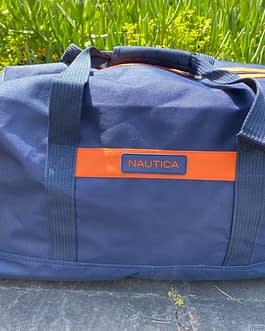 Nautica 2-Piece Duffle Luggage Set with Wheels and Handle