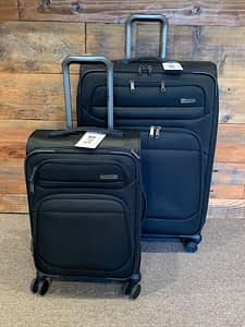 2pc Samsonite Double Wheeled Black Spinner Luggage Set
