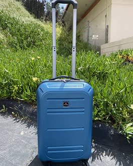 Tag 22″ Hardcase Carry On Luggage Spinner Wheels Blue