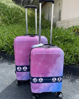 Pacific Coast 2-Piece Polycarbonate Pink Cloud Hardside Luggage Set