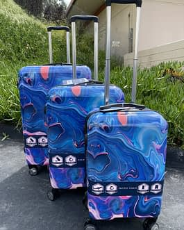 Pacific Coast 3-Piece Polycarbonate Marble Hardside Luggage Set