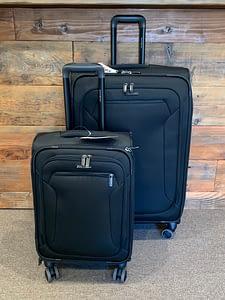 2pc Samsonite Black Suitcase with 360 wheels Luggage Set