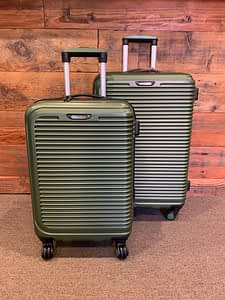 2pc Travel Select Green Spinner Hardside Luggage Set
