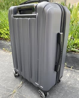 Delsey 22″ Polycarbonate Hardshell Carry-On Luggage Spinner Gray