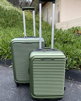 Travel Select 2-Piece Hardside Spinner Wheel Luggage Set Green