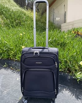 Samsonite StackIt Expandable Large Carry-On Luggage Black