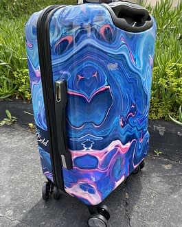 Pacific Coast Polycarbonate Marble 22″ Hardside Carry On Luggage