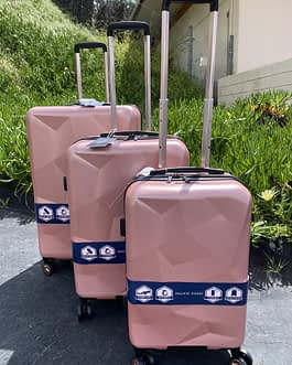 Pacific Coast 3-Piece Polycarbonate Rose Gold Hardside Luggage Set