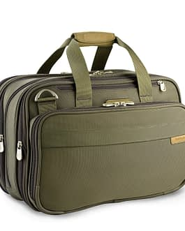 Briggs & Riley Baseline, 231X-7 EXPANDABLE OLIVE CABIN BAG with LIFETIME WARRANTY