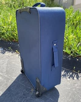Nautica 25″ Medium Size 2-Wheeler Check-In Luggage Navy Blue